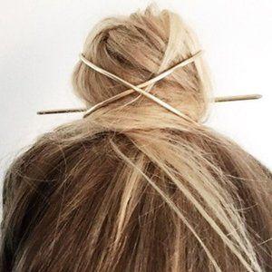 Boutique Minimalist Wire Style Hair Pins Hair Tie